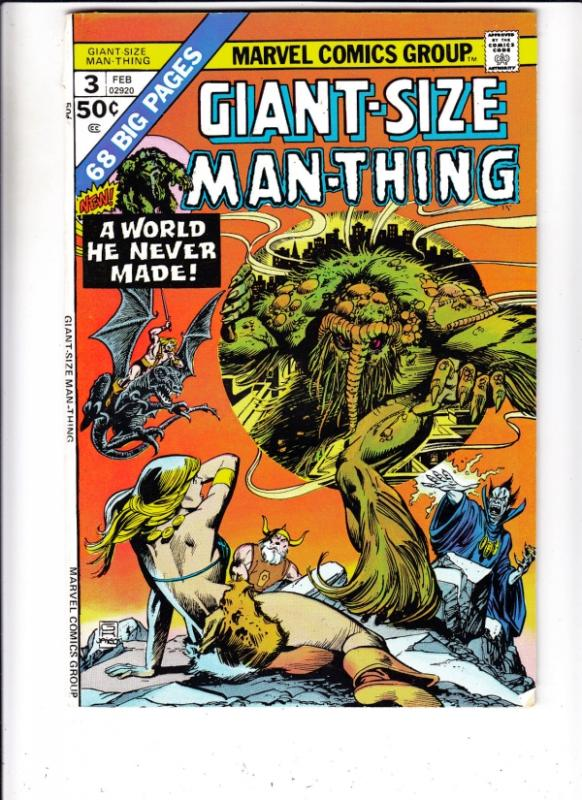 Giant-Size Man-Thing #3 (Feb-75) VF+ High-Grade Man-Thing
