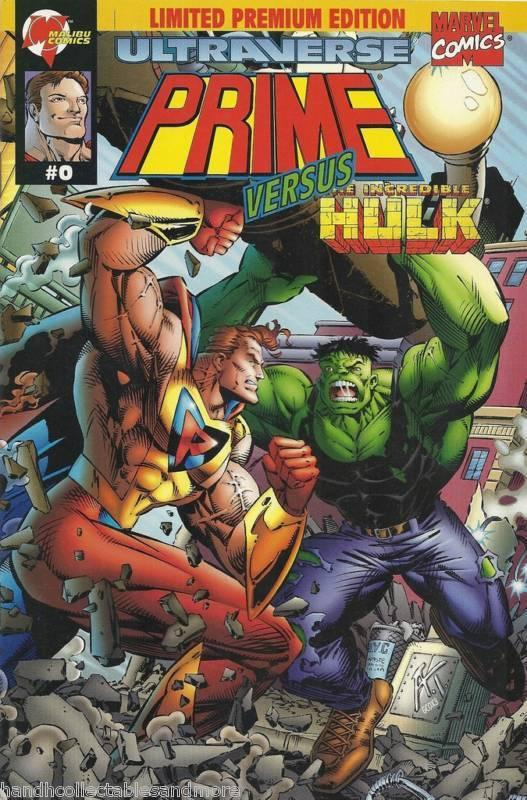PRIME vs INCREDIBLE HULK comic  rare # 0 marvel  limited premium edition+