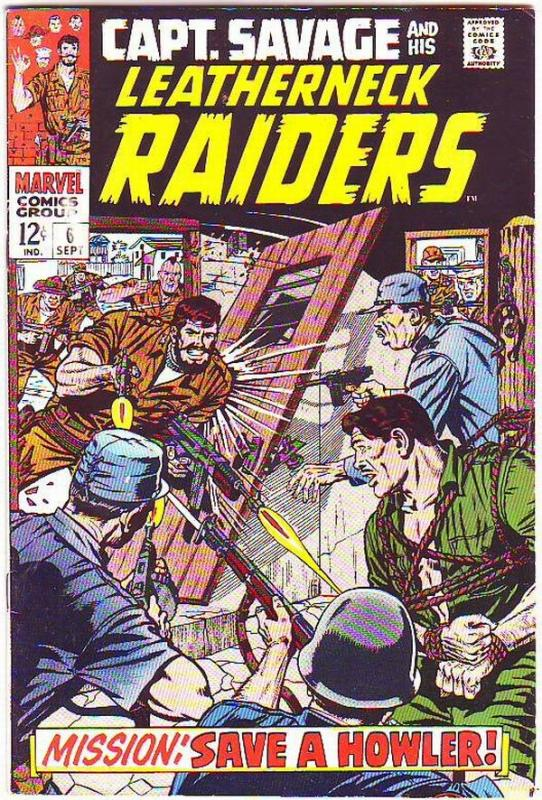 Captain Savage and His Leatherneck Raiders #6 (Sep-68) VF+ High-Grade Captain...