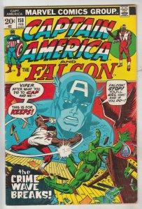 Captain America #158 (Feb-73) VF/NM High-Grade Captain America