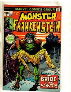 Monster Of Frankenstein # 2 VF/NM Marvel Comic Book Mike Ploog Cover Horror RS1