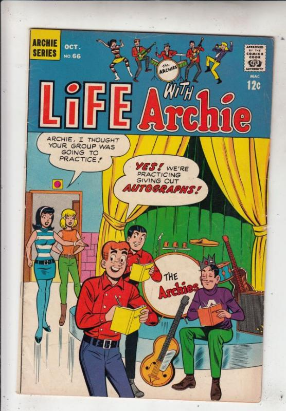 Life with Archie #66 (Oct-67) FN/VF Mid-High-Grade Archie, Jughead, Betty, Ve...