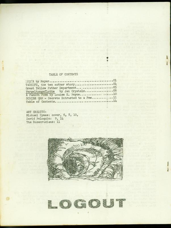 QRM Fanzine #1 February 1967-RARE SCIENCE FICTION Michael Symes FN