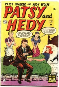 PATSY & HEDY #13-1953-PATSY WALKER APPEARS-DOCTOR VISIT COVER-STAN LEE-VERY RARE