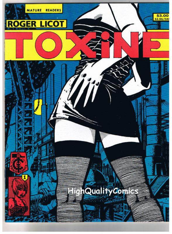 TOXINE #1, NM, Magazine, Roger Licot, Femme Fatale, 1991, hard to find