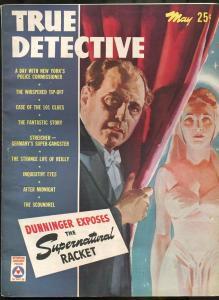 TRUE DETECTIVE MAY 1943-VF-SUPERNATURAL RACKET-JULIUS STREICHER-PULP-MAGAZINE VF