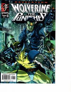 Lot Of 2 Marvel Comic Book Wolverine Punisher #1 and Excalibur #121 KS11