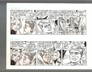 Winnie Winkle Original Double Daily Comic Strip Art 3/20 & 3/21 1989 Frank Bolle