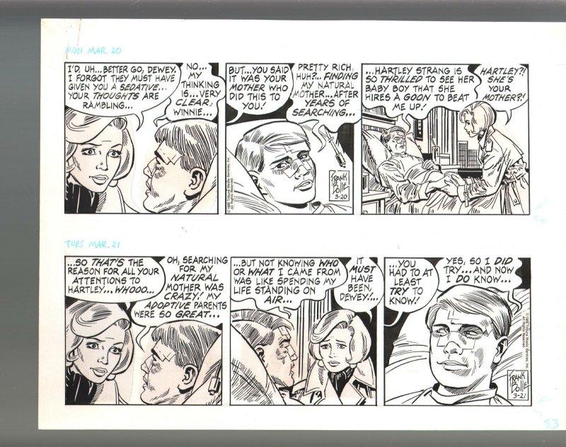 Winnie Winkle Original Double Daily Comic Strip Art 3/20 & 3/21 1989 Frank Bolle