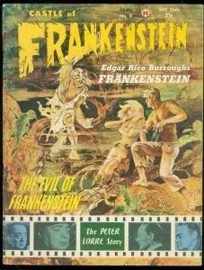 CASTLE OF FRANKENSTEIN #5 1964-FRANK FRAZETTA-Peter LORRE FN