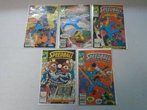 Speedball The Masked Marvel Set: #1-10 7.0 (Range 6.0-8.0) (1988)