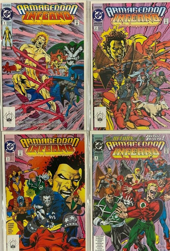 Armageddon inferno set#1-4 8.5 VF+ (1992)