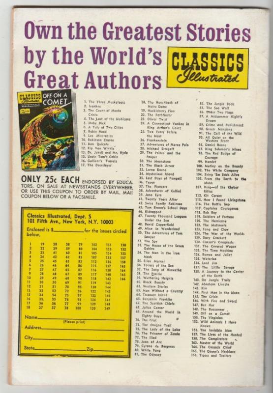 Classics Illustrated #169 (May-69) VF High-Grade Harriet Tubman, Crispus Attu...