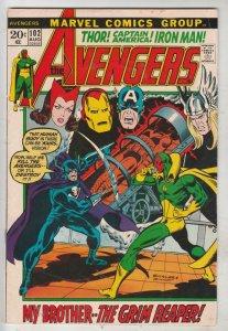 Avengers, The #102 (Aug-72) FN/VF Mid-High-Grade Avengers