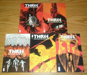 Three #1-5 VF/NM complete series - gillen - three slaves run from the sparta 300
