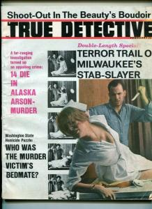 TRUE DETECTIVE February 1967-SHOOT OUT-ARSON MURDER-STAB SLAYER- VG