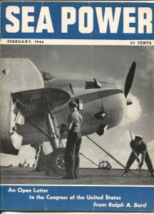 Sea Power 2/1946-military info & pix-naval defense-VG