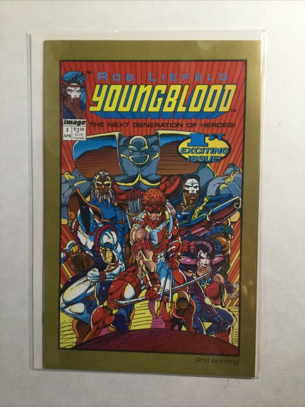 Youngblood 1 Near Mint- Nm- 9.2 2nd Second Printing Image Comics