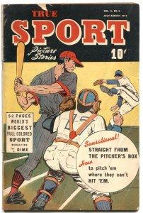 TRUE SPORT PICTURE STORIES VOL 4 #2-1947-BASEBALL-BOXING-SLEWFOOT JONES