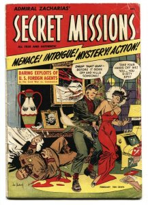 SECRET MISSIONS #1 1950-ST. JOHN-JOE KUBERT-VG