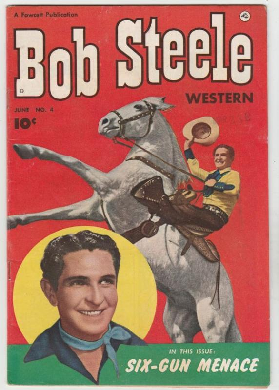 Bob Steele Western #4 (Jun-51) VF High-Grade Bob Steele