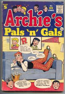 Archie's Pals 'n' Gals #5 1956- Archie #50 & #53 cover homage