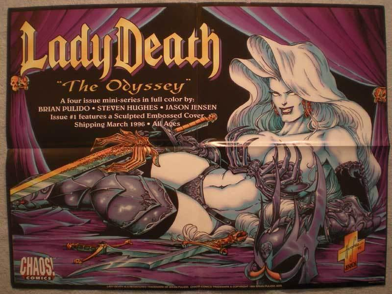 LADY DEATH ODYSSEY Promo poster, 24x19, 1994, Unused, more Promos in store