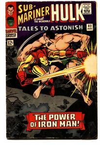 TALES TO ASTONISH #82 comic book-1966-MARVEL-IRON MAN VS. SUB-MARINER VG