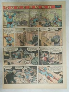 Superman Sunday Page #931 by Wayne Boring from 9/1/1957 Size ~11 x 15 inches