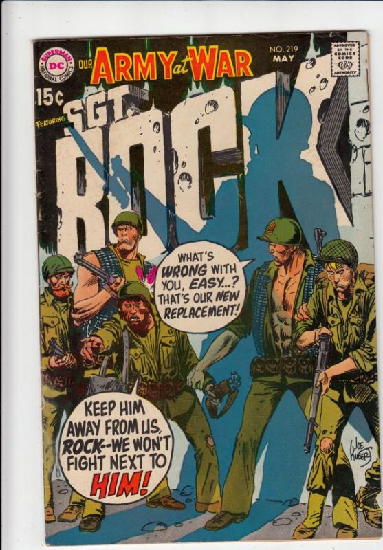 Our Army at War #219 (May-70) VF/NM High-Grade Easy Company, Sgt. Rock