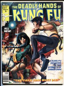 The Deadly Hands of Kung Fu #32 1977-1st Daughters of the Dragon-White Tiger VF