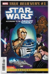 True Believers Star Wars According To Droids #1 Printing Defect (Marvel) NM