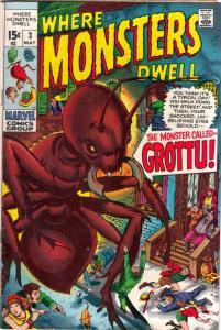 Where Monsters Dwell #3 (May-70) VF High-Grade Sporr