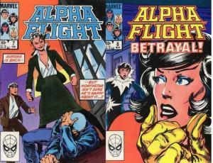 ALPHA FLIGHT (1983-1994) 7-8  Aurora & Northstar story COMICS BOOK