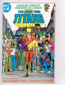 New Teen Titans (1980) Drug Awareness #3A DC Comic Book Cyborg Starfire HH2