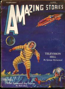 Amazing Stories 2/1931-A Hyatt Verrill-Bob Olsen-Leo Morey-McLociard-VG