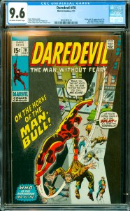Daredevil #78 CGC Graded 9.6 Origin and 1st appearance of the Man-Bull (Willi...