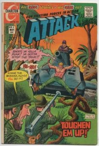 ATTACK #5 FN Our Fighting Forces in Action WWII 1972 more Charlton in store