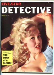 FIVE-STAR DETECTIVE CASES #1 3/54-PULP-CRIME-SOUTHERN STATES PEDIGREE-nm