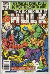 Incredible Hulk King Size Annual #9 (May-70) NM- High-Grade Hulk