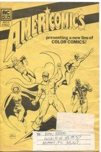 AMERICOMICS #0-1982-ORIGINAL PROMO ISSUE-JIM STERANKO-PAT BRODERICK-BILL BLACK