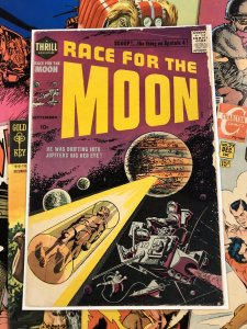 Race for the Moon #2 VG/F 5.0 sci-fi SPUTNIK 4 a thrill adventure 1958 kirby