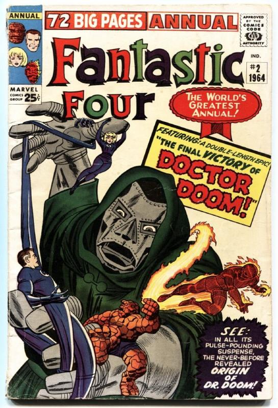 FANTASTIC FOUR ANNUAL #2 1964 MARVEL DR DOOM KIRBY ART-BLANK COVER VARIANT!