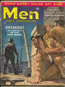 Men 4/1958-AtlasPOW escape-Nazis-women in prison-cheesecake-exploitation-G+
