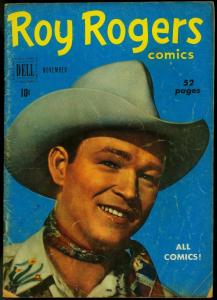 Roy Rogers Comics #35 1950- Dell Golden Age Western photo cover VG