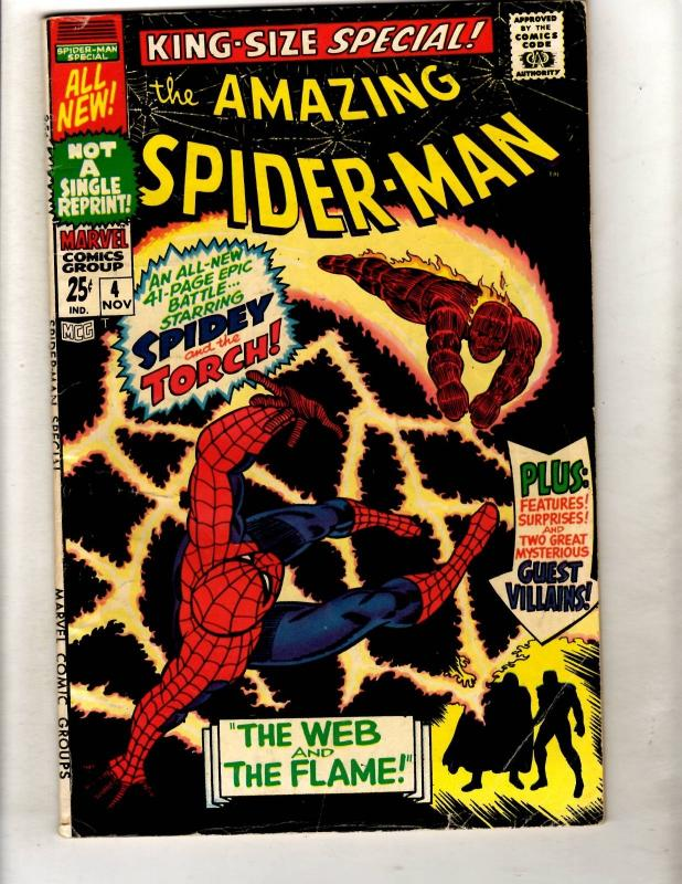 Amazing Spider-Man Special # 4 FN Marvel Comic Book Human Torch Dr. Doom FM2