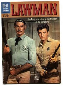 Lawman #4 1960- Dell Western- John Russell- Peter Brown VF-