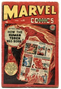 Marvel Mystery Comics #92 1949- LAST ISSUE- G/VG