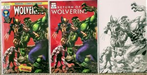 Return of Wolverine #1 Mico Suayan NYCC Variants and B&W Hulk 181 homage