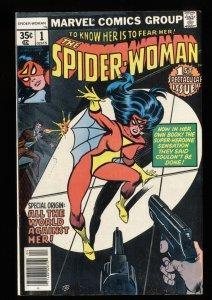 Spider-Woman (1978) #1 VF 8.0 New costume and origin!